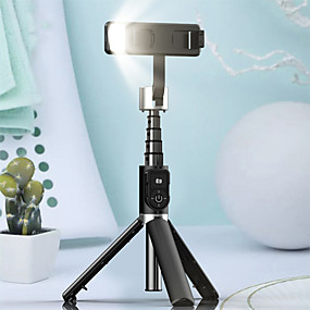 billige Mobilkamera vedlegg-p70d bluetooth selfie stick tripod fill light video record support universal justerbar retning smarttelefon stabilisator vlog