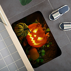 cheap Mats & Rugs-Halloween Pattern Rug Door Mat Hallway Carpets Area Rugs for Bedroom Living Room Carpet Kitchen Bathroom Anti-Slip Floor Mats