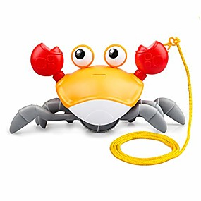 cheap Pools & Water Fun-bath toys for toddler 1-3 years, clockwork walking crab pulling toys birthday festival gifts for 3/4/5 years boys girls, cute cartoon crab toy with a 29.5in cord to pull and play
