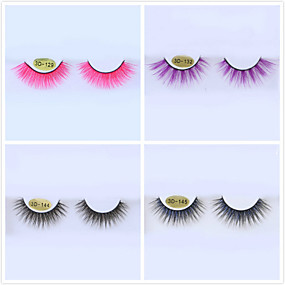 cheap Makeup Tools & Accessories-Colored False Eyelashes 3D Multi-layered Three-dimensional Eyelashes Cosplay Halloween Color False Eyelashes