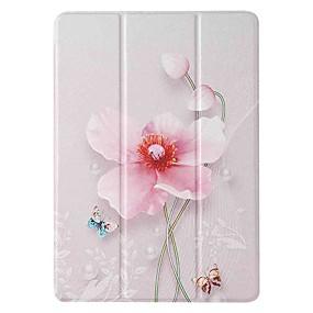 cheap iPad case-Case For Apple iPad 5 (2017) 9.7'' iPad 6 (2018) 9.7'' iPad 7 (2019) 10.2'' with Stand Flip Pattern Full Body Cases Pearl Flower PU Leather TPU for iPad 8 (2020) 10.2'' iPad Pro (2020) 11''
