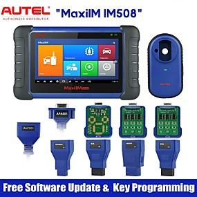 hesapli Yerel depo-autel maxiim im508 otomotiv anahtar programlama tarama aracı, xp200 anahtar programcısı ile oe-seviyesinde tüm sistem teşhis yağ sıfırlama ile araç teşhis tarayıcı epb sas bms dpf hizmetleri
