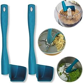 abordables herramientas de cocina novedad-raspador giratorio espátula giratoria pala porcionar procesador de alimentos herramienta de cocina plástico duro para thermomix tm6 / tm5 / tm31 tambores de mezcla