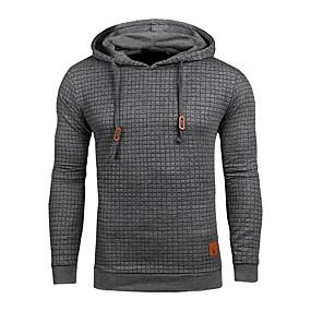 cheap Men's Tops-mens hoodies casual midweight long sleeve sweatshirt dark grey xx-large