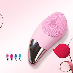 お買い得  スキンケア-シリコーン洗顔ブラシ電気洗顔装置小さなマンゴー超音波振動毛穴クリーナー