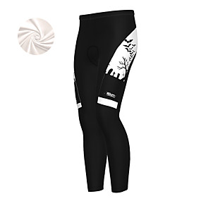 cheap Cycling & Motorcycling-21Grams Men's Cycling Tights Cycling Pants Winter Fleece Bike Bottoms Fleece Lining Breathable Warm Sports Cartoon Novelty White / Blue / Orange Mountain Bike MTB Road Bike Cycling Clothing Apparel