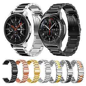 cheap Smartwatch Bands-Metal Stainless Steel Watch Band Wrist Strap for Samsung Galaxy Watch 46mm / Gear S3 Classic / Frontier Bracelet Replaceable Wristband