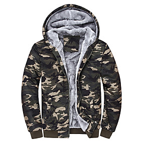 cheap Running & Jogging-Men's Long Sleeve Running Track Jacket Hoodie Jacket Full Zip Outerwear Coat Top Casual Athleisure Winter Fleece Thermal Warm Windproof Breathable Gym Workout Running Jogging Sportswear Plus Size