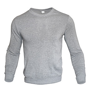 cheap Yoga & Fitness-Men's Long Sleeve Sweatshirt Top Athleisure Winter Fleece Thermal Warm Breathable Soft Fitness Gym Workout Performance Running Training Sportswear Solid Colored Normal White Black Yellow Red Blushing