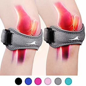 cheap Massagers & Supports-2 pack patellar tendon support strap, knee pain relief with silicone adjustable knee band, brace stabilizer for gym, running, hiking, weight lifting, basketball, volleyball