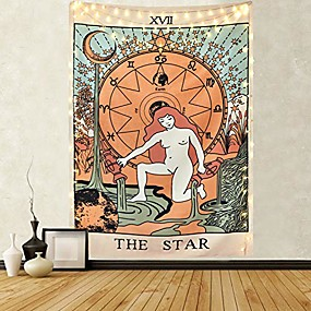 cheap Wall Tapestries-tarot tapestry the star tapestry medieval europe divination tapestry wall hanging mysterious tapestries for room
