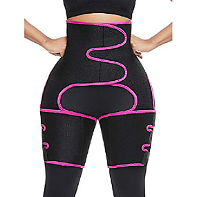 cheap Massagers & Supports-thigh support waist trimmer belt for women weight loss tummy control compression sleeve thigh brace band