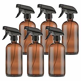 halpa Terveyssetti matkalle-tyhjät keltaiset lasiset suihkepullot, joissa etiketit (6 kpl) - 16oz uudelleen täytettävä astia eteerisille öljyille, puhdistusaineet