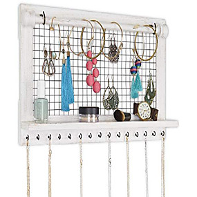 cheap Accessories-jewelry organizer with bracelet rod (farmhouse white)