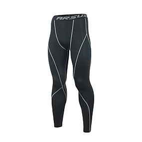 cheap Running & Jogging-Arsuxeo Men's Running Tights Leggings Compression Pants Athletic Base Layer Bottoms Stripe Spandex Elastane Fitness Gym Workout Marathon Running Jogging Breathable Quick Dry Soft Normal Sport Stripes