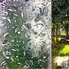 cheap Curtains & Drapes-window film 3d no glue static decorative privacy window films for glass 23.6in. by 157.4in