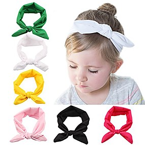 cheap Accessories-baby elastic hair hoops headbands and girl's fashion soft headbands (6 pack set 7)