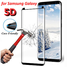 cheap Screen Protectors-9H Curved Edge 5D Tempered Screen Glass Protector For Samsung Galaxy S8 S9 Note 9 Protectors