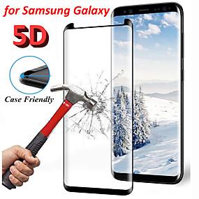 billige Telefoner og tilbehør-9 timers buet kant 5d herdet skjermglassbeskytter til samsung galaxy s8 s9 note 9 beskyttere
