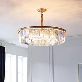cheap Ceiling Lights & Fans-QIHengZhaoMing 80 cm Lantern Desgin Pendant Light Crystal Modern 110-120V 220-240V