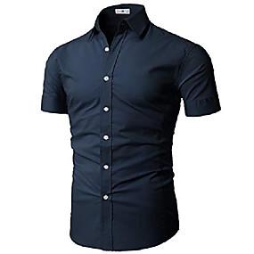 povoljno Muške košulje-muška muška modna dres majica kratkih rukava mornarica američka l / azija xl (kmtsts0133)