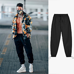 cheap Running & Jogging-Men's Sweatpants Joggers Athleisure Bottoms Drawstring Zipper Pocket Winter Fitness Gym Workout Running Training Breathable Quick Dry Moisture Wicking Plus Size Sport Solid Colored Black Army Green
