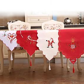billige Duker-julebordløperflagg brodert uthulet bordflagg julenissen bordflagg