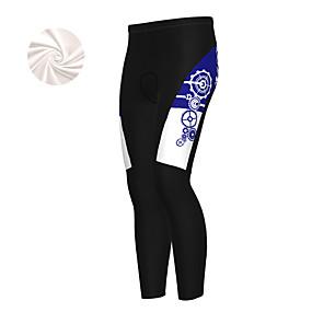 cheap Cycling & Motorcycling-21Grams Men's Cycling Tights Cycling Pants Winter Fleece Bike Bottoms Fleece Lining Breathable Warm Sports Gear White / Dark Green / Blue Mountain Bike MTB Road Bike Cycling Clothing Apparel Bike Wear