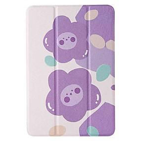 cheap iPad case-Case For Apple iPad mini 1/2/3 7.9'' iPad mini 4 7.9'' iPad mini 5 7.9'' with Stand Flip Pattern Full Body Cases Purple Flower PU Leather TPU
