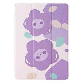 cheap iPad case-Case For Apple iPad 5 (2017) 9.7'' iPad 6 (2018) 9.7'' iPad 7 (2019) 10.2'' with Stand Flip Pattern Full Body Cases Purple Flower PU Leather TPU for iPad 8 (2020) 10.2'' iPad Pro (2020) 11''