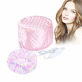 cheap Hair Dryers-110v hair care hat,hair spa cap,hair care steamer cap,thermal hair cap,waterproof home hair thermal care electric hair treatment beauty steamer perfect for family personal care (pink)