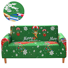 cheap Slipcovers-Stretch Slipcover Sofa Cover Couch Cover Green Christmas Print Dustproof All-powerful Slipcovers Stretch Waterproof Sofa Cover Super Soft Fabric Couch Cover