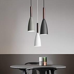 billige Klyngedesign-led spisebord belysning lysekroner nordisk minimalistisk spisebord kjøkken macaron hengende lamper pære ikke inkludert 220v