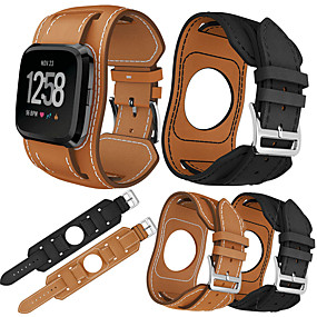 cheap Smartwatch Bands-Watch Band for Fitbit Versa / Fitbi Versa Lite / fitbit versa 2 Fitbit Sport Band Genuine Leather Wrist Strap