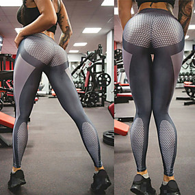 cheap Running & Jogging-Women's Running Tights Leggings Compression Pants Athletic Tights Leggings Bottoms Spandex Winter Fitness Gym Workout Performance Running Training Tummy Control Butt Lift Breathable Sport Grey