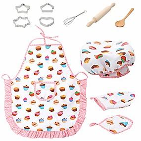 halpa Rooliasut ja pukeutumisleikit-lapset kokkaavat ja paistavat kokkisetti - kokin roolileikkipukusetti leikkiä keittiön leluja teeskennellä ruoanlaittoleluastiastojen leikkisarjaa