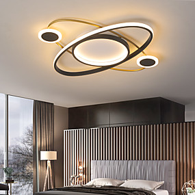 cheap Dimmable Ceiling Lights-52 cm Planet Ceiling Light Nordic  Simple Modern Living Room Lamp Personality LED Bedroom Lamp Children Room Warm Household