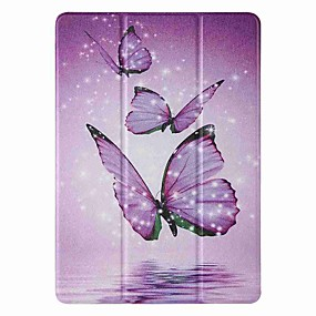 cheap iPad case-Case For Apple iPad 5 (2017) 9.7'' iPad 6 (2018) 9.7'' iPad 7 (2019) 10.2'' with Stand Flip Pattern Full Body Cases Purple Butterfly PU Leather TPU for iPad 8 (2020) 10.2'' iPad Pro (2020) 11''