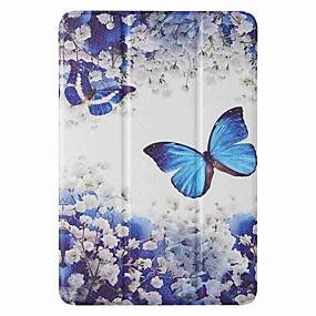 cheap iPad case-Case For Apple iPad mini 1/2/3 7.9'' iPad mini 4 7.9'' iPad mini 5 7.9'' with Stand Flip Pattern Full Body Cases Blue Butterfly PU Leather TPU