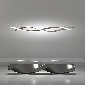 billige Kjøkkenbelysning-2-lys 100cm LED anheng lys justerbar lysekrone 36W aluminium lineærmalte overflater krøllbølge design 110-120V 220-240V