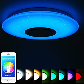 cheap Dimmable Ceiling Lights-40cm Ceiling Light Bluetooth Music Absorption Dome Light LED Colorful Story Light Mobile phone smart APP Master Bedroom Light