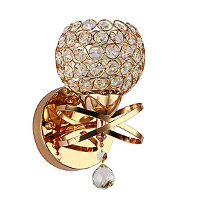 cheap Indoor Lighting-Wall Sconce Crystal Wall Light Luxury Bedroom Bedside Wall Lamp