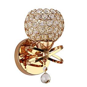 baratos Lustres-candeeiro de parede de cristal de parede candeeiro de parede de cabeceira de luxo para quarto