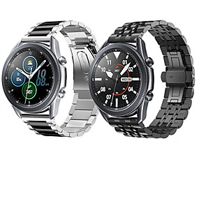 abordables Bandes de montre intelligente-Bracelet de Montre  pour Montre Galaxy 3 45 mm / Montre Galaxy 3 41 mm Samsung Bracelet Sport Acier Inoxydable Sangle de Poignet