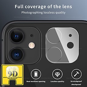 cheap iPhone Screen Protectors-9D Camera Protector on for iPhone 12 11 Pro Max Full Back Lens Protective Glass Screen Protector For iPhone 11 Pro Camera Accessories