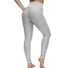 cheap Exercise, Fitness & Yoga-Women's High Waist Yoga Pants Ruched Butt Lifting Cropped Leggings Tummy Control Butt Lift Quick Dry Orange red White Black Fitness Gym Workout Running Sports Activewear High Elasticity
