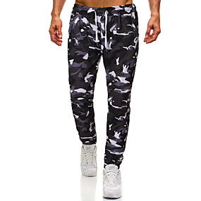 cheap Running & Jogging-Men's Jogger Pants Drawstring Color Block Sport Athleisure Pants Breathable Soft Comfortable Running Everyday Use Exercising General Use