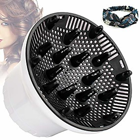 """cheap Hair Dryers-hair diffuser, universal hair dryer diffuser for curly hair and natural hair,professional hair diffuser attachment fits 99.9% blow dryer nozzle 1.5""""- 2.67"""" to minimizes frizz volume (white)"""