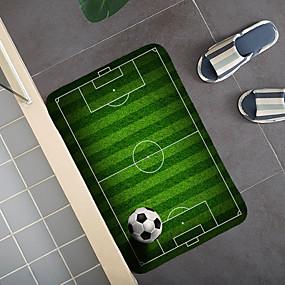 billige Matter og tepper-1pc modern fotball bath mats rugs football floor mat flannel anti-skid floor mat