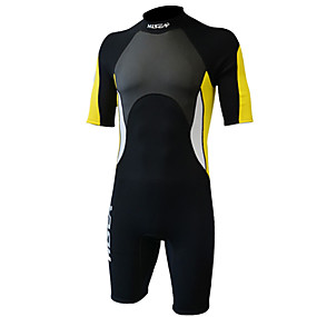 cheap Surfing, Swimming & Diving-Women's Shorty Wetsuit 3mm SCR Neoprene Diving Suit Thermal Warm Quick Dry Stretchy Short Sleeve Back Zip - Swimming Diving Surfing Scuba Patchwork Autumn / Fall Spring Summer